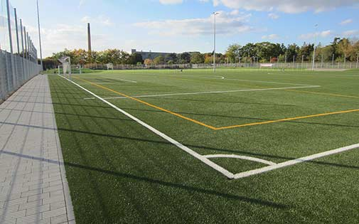 synthetic turf and encircling path