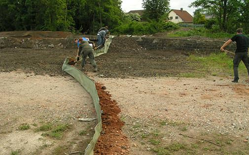 construction of reptile fence
