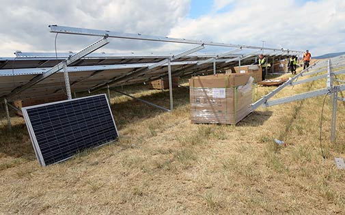 construction of photovoltaic system
